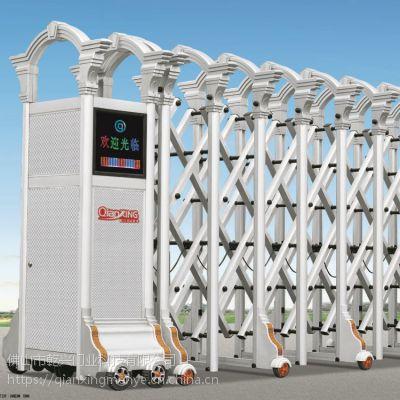 铝合金电动伸缩门智能店东大门、小区工厂庭院大门高升门系列