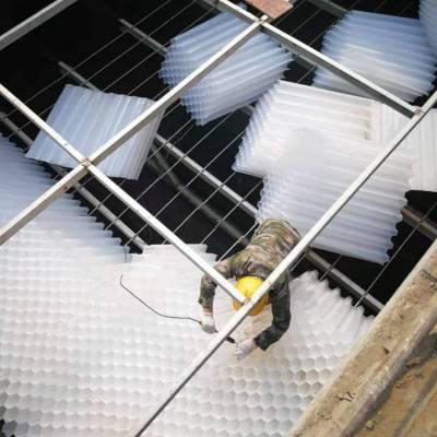 蜂窝斜管厂家出厂价 承包上门安装、售后处理等服务 蓝宇斜管填料