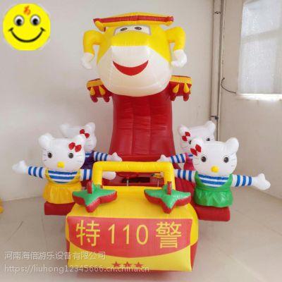 新款充气电瓶车外罩卡通车罩广场儿童游乐场电玩具