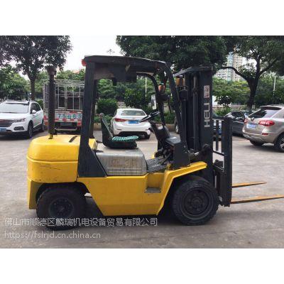 佛山二手柴油叉车 低价租售台合力载重3吨升高3米自动波柴油叉车