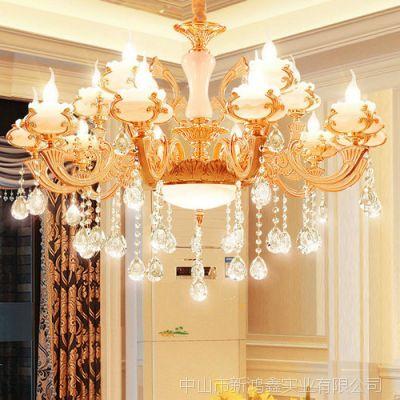 济源市厂家客厅大灯安装 祥云水晶吊灯 酒店工程艺术灯饰