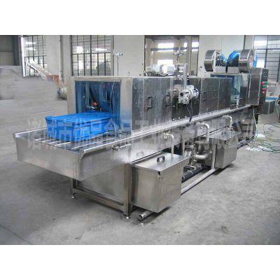 厂家直销食品厂周转箱清洗机 优品隧道式灭菌清洗机