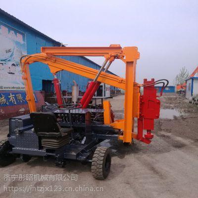 彤昭出售各种型号公路护栏打桩机打拔钻一体机质量保证