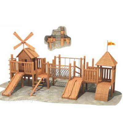 幼儿园儿童木制攀爬架 秋千轮胎组合攀爬网荡桥户外钻洞体能训练