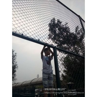 双赫插接式足球场围栏网 绿色包胶勾网 球场专用勾丝网