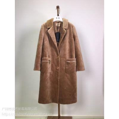 依斐诗 羊剪绒 澳洲羊毛皮草外套狐狸毛新款大衣反季清仓特价货源
