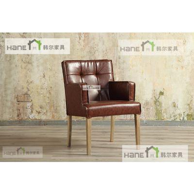 韩尔品牌家具定制 HR12谷心餐厅桌椅 粤菜餐厅实木桌椅定制