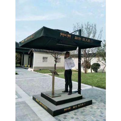 南京礼宾台带遮阳伞房地产保安值班岗台,物业门卫岗哨台规格