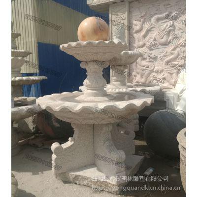 大型石雕风水球流水_曲阳石雕风水球厂家供应商目录_永权雕塑