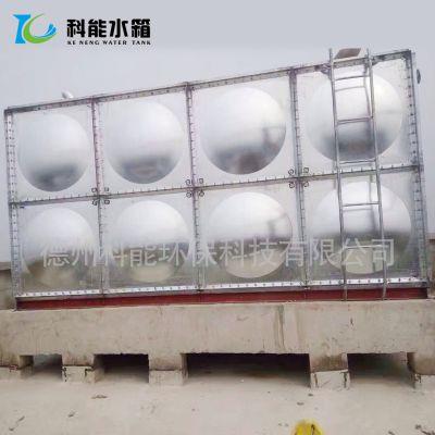 德州科能镀锌板水箱定做 热镀锌钢板水箱螺丝连接