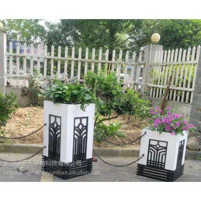 新款pvc花箱厂家组合定做 市政花箱园林绿化工程花盆艺术户外花箱