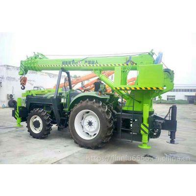 8吨拖拉机吊车 拖拉机电线杆挖坑立杆一体机