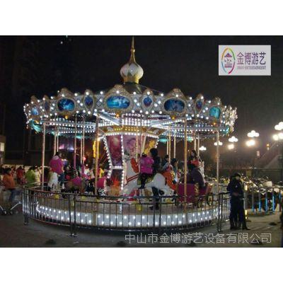 热销儿童游乐园设备豪华转马 旋转木马游乐设备 24人转马游乐设备