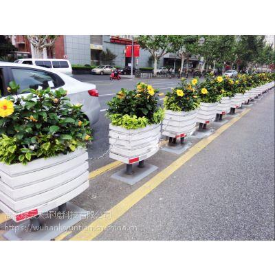 一桶一链pvc花箱 pvc道路景观花箱 pvc城市绿化花箱 道路隔离花箱