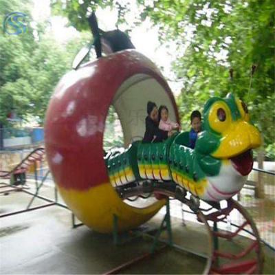 儿童青虫滑车轨道大型游乐场设备果虫滑车滑行龙系列产品三星制造