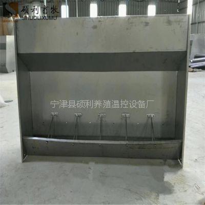 育肥猪保育猪使用的不锈钢猪食槽双面猪食槽 内置自动拨料器