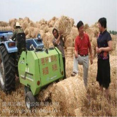 新款行走式小麦秸秆打捆机 自动捡拾秸秆打捆机报价