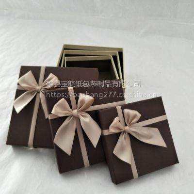 爱赏宝 厂家直销蝴蝶结生日礼物盒 正方形礼品盒 天地盖精美包装盒