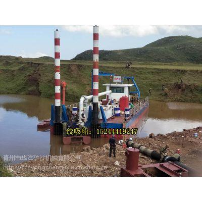 江西水库使用绞吸挖泥船进行疏浚工作