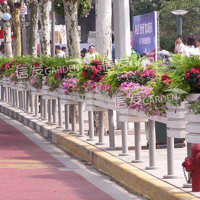 道路护栏立体绿化 长条组合花箱 花盆铝合金 pvc材质厂家直销