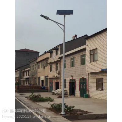 西藏山南市曲松县12V Q235钢材LED太阳能路灯 厂家定制安装价格便宜