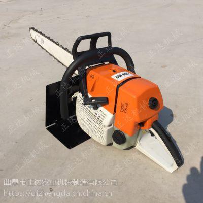 链条挖树机视频 90直径一下土球的挖取两冲程挖树机