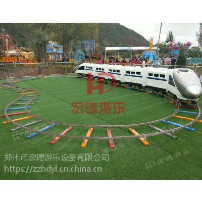 郑州宏德游乐亲子互动生意好人气产品旋转小火车新款轨道动车组定制热销