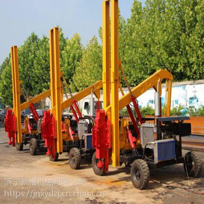 小四轮护栏打桩机安装流程