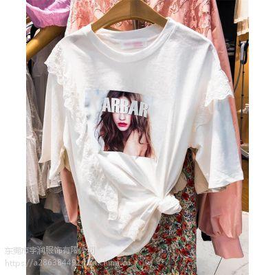 便宜女装T恤2019短袖纯棉t恤库存服装清货女装上衣尾货服装2-3元