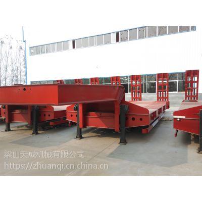 轻量化挖掘机运输低平板半挂车 高强钢工程机械运输低平板半挂车 轻型钩机板