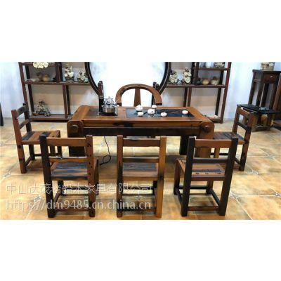 船木家具老船木茶桌茶台茶几实木功夫船木茶桌椅组合特价阳台户外