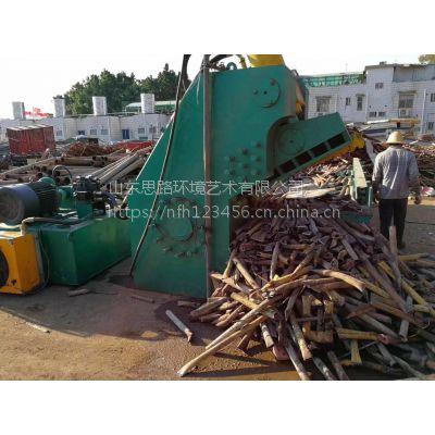 重型金属废料剪切机 315吨废铁槽钢虎头剪切机 山东思路定做液压切断机