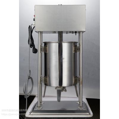 厂家爆款一件代发嘉美牌10L电动立式不锈钢灌肠机