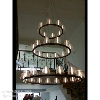 新特丽美景系列吊灯 高端灯饰 济宁米兰名灯 客厅灯 现代简约卧室灯