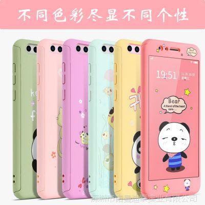 荣耀8卡通动物水贴画全包手机壳 Pc可拆前后盖华为手机保护套配件