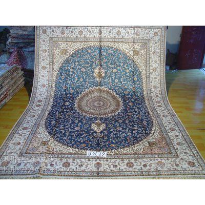 广州厂家直销手工真丝地毯水洗真丝波斯地毯