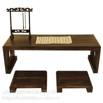 西安国学桌幼儿国学桌 书法桌 仿古实木桌椅 厂家直销特价销售