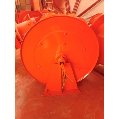 电动平车弹簧电缆卷筒 地面水平卷取25平方电缆线卷筒 澳尔新牌收线器