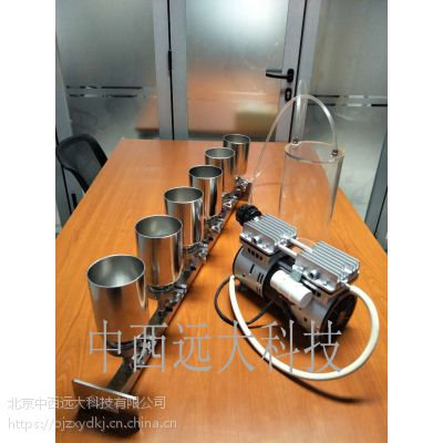 中西(LQS厂家)六联全不锈钢溶液过滤器(带进口泵和集液瓶)型号:BGL-6库号:M192194