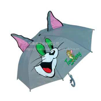 供应儿童用品促销广告伞 卡通儿童广告雨伞定制 儿童雨伞上海工厂