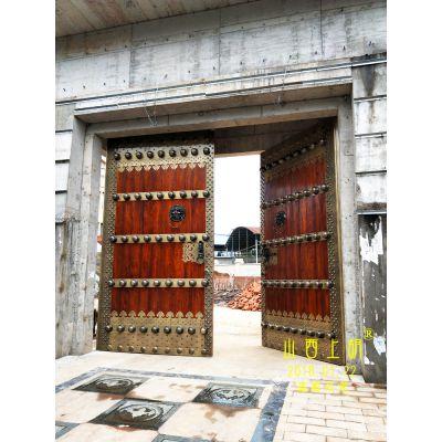 独栋别墅围墙大门,别墅庭院围墙大门-山西上胡木质围墙大门
