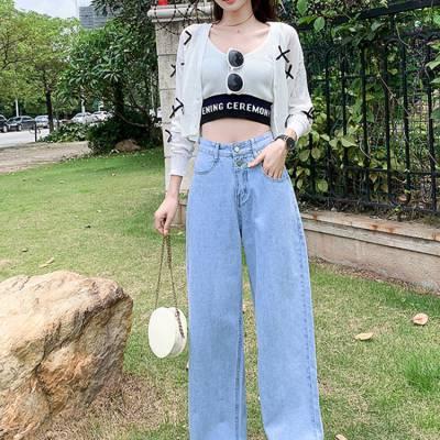 大朗现货牛仔裤品牌工厂清货女式牛仔裤阿里巴巴牛仔裤