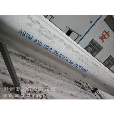 沧州泰诺大口径美标A53镀锌ERW直缝钢管,美标直缝热镀锌对焊钢管