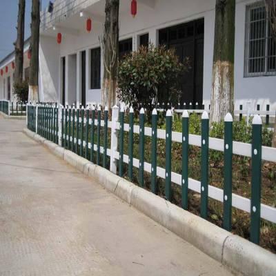 江西赣州赣县变电箱护栏、 哪里有pvc护栏的配件 木纹色草坪护栏