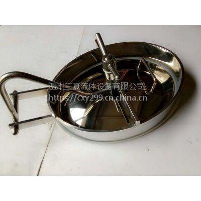 卫生级不锈钢焊接内开式斜边椭圆人孔