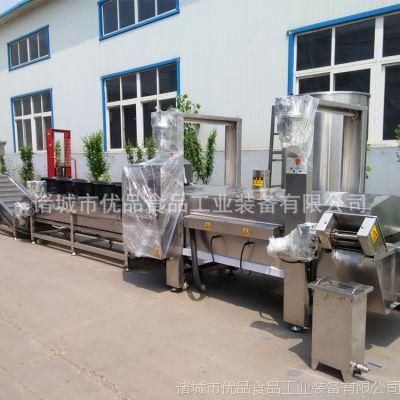 优品豆腐片连续油炸机 豆制品加工设备生产厂家 电加热隧道油炸线
