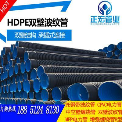句容市双壁波纹管了亳州HDPE双壁波纹管七孔梅花直接钢带管克拉管厂家专卖
