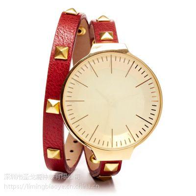 伦巴rumbaTIME时尚潮流石英表学生腕表柳钉表带女士腕表深圳圣戈鹿厂家