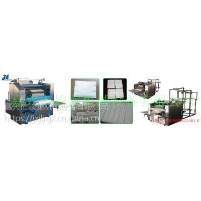 JL-XF1200型(1-4卷料)多规格方片卸妆棉片机