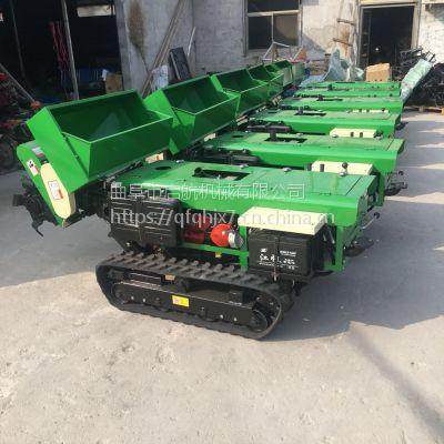 低矮小型多功能旋耕施肥机 园林自走式耕田机 启航履带式爬坡施肥一体机